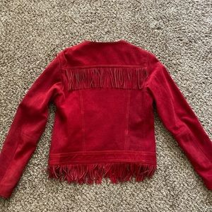 Red suede cowboy jacket (real leather)